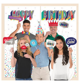 Here's To Your Birthday Selfie Scene Setters® w/Photo Props