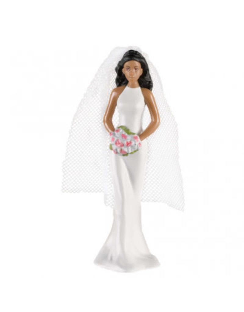 Cake Topper African American Bride