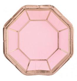 "Metallic Octagonal Plates, 7"" (8)"
