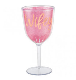Blush Wedding Wine Goblet