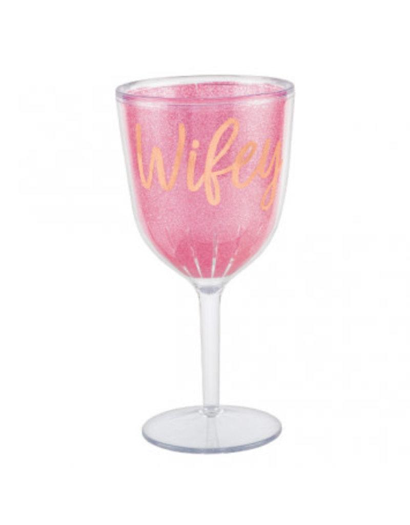 Blush Wedding Wine Goblet