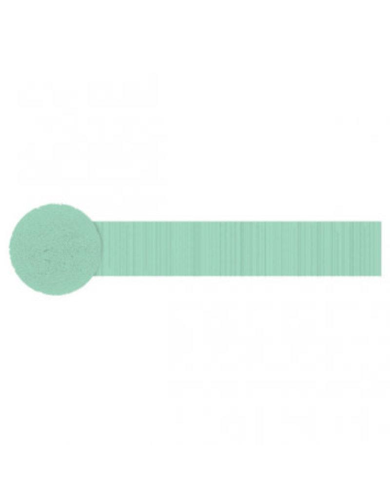 Fringe Crepe Streamer, 81' - Cool Mint