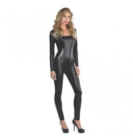 Women's Costume Liquid Black Catsuit - Adult S/M