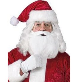 Adult Santa Beard, Wig, Glasses Accessory Set
