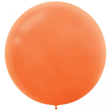 "24"" Orange Balloon (With Helium)"
