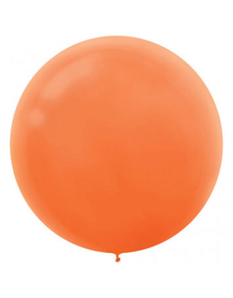 """24"""" Orange Balloon (With Helium)"""