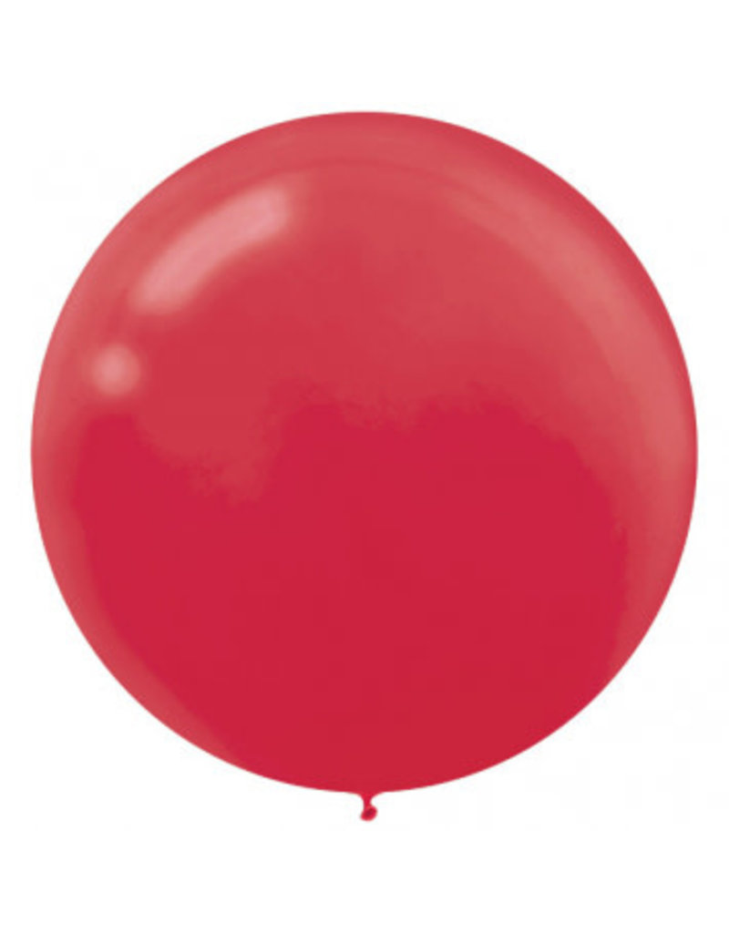 """24"""" Apple Red Balloon (With Helium)"""