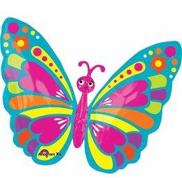 "Spring Butterfly 18"" Mylar Balloon"