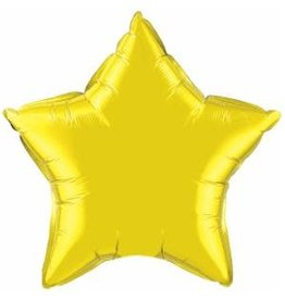 "Citrine Yellow Star 18"" Mylar Balloon"