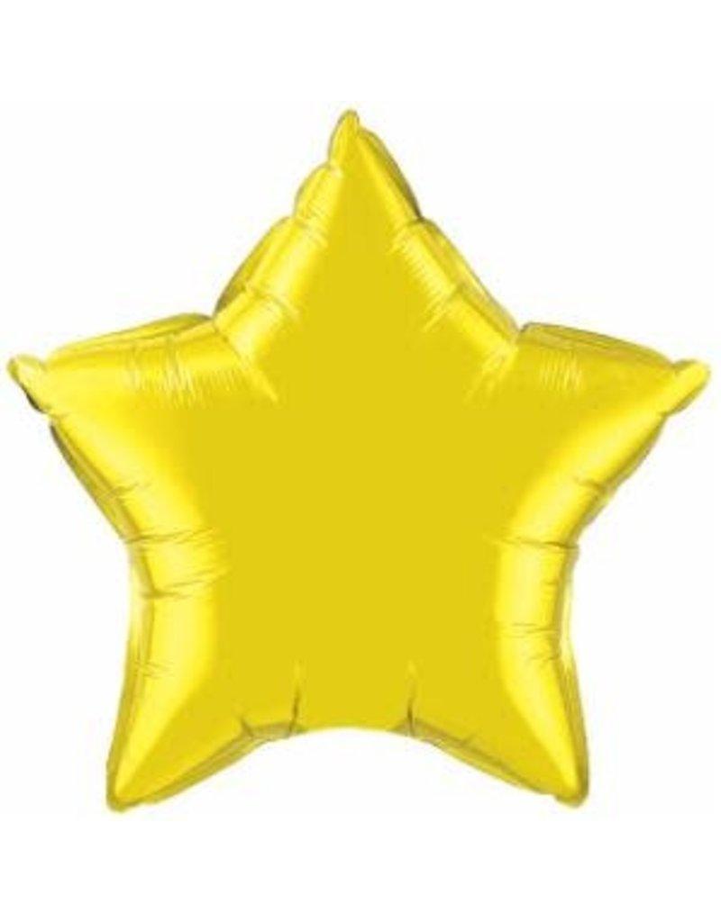 "Citrine Yellow Star 18"" Mylar Balloon"