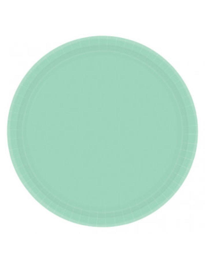 "Cool Mint 7"" Paper Plate (20)"