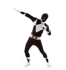 Morphsuit Black Power Ranger Costume - Large
