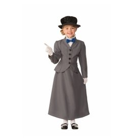 Child English Nanny Medium (8-10) Costume