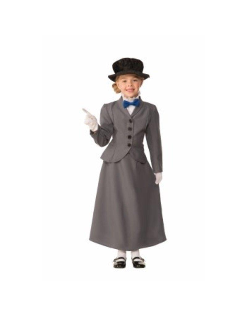 Child English Nanny Medium (8-10) Costume