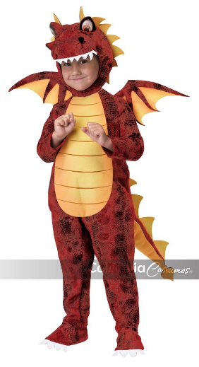 Toddler Costume Fire Breathing Dragon Medium