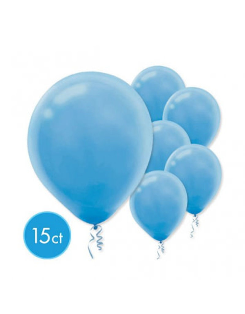 Powder Blue Solid Color Latex Balloons (15)