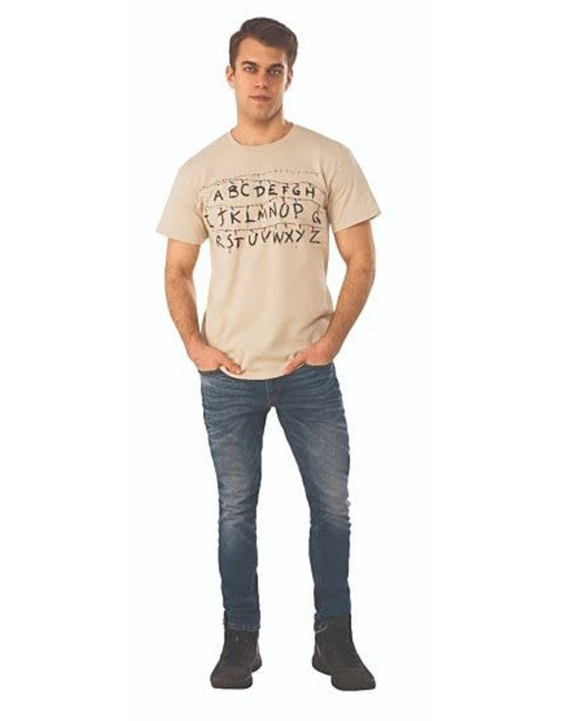 Stranger Things Alphabet Wall T-Shirt (Large)