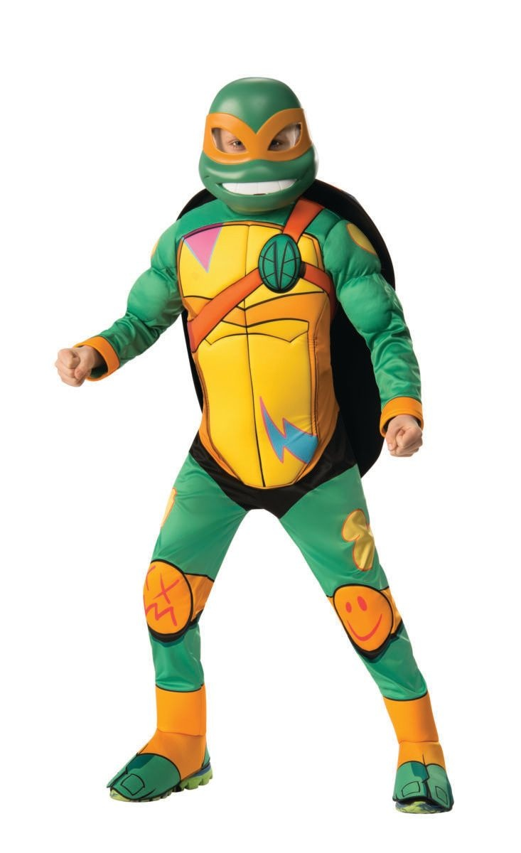 Child Rise of the TMNT Deluxe Michelangelo Costume Medium (8-10)