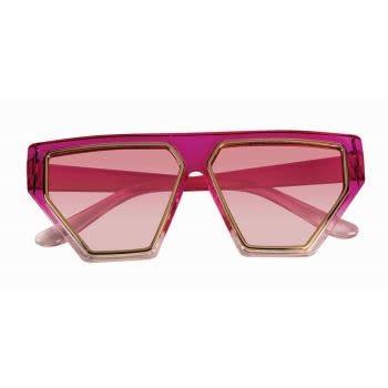 80'S Hot Pink Glasses