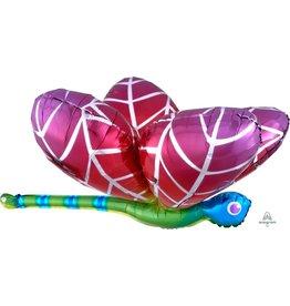 "Rainbow Dragonfly 40"" Mylar Balloon"