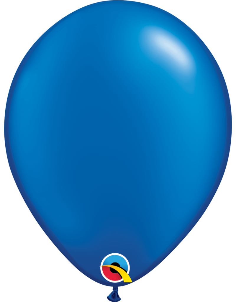 """16"""" Pearl Sapphire Blue Balloon (Without Helium)"""
