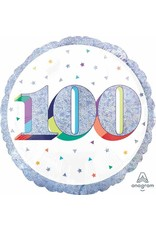 """Here's To Your 100th Birthday 18"""" Mylar Balloon"""
