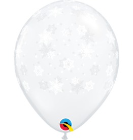 "11"" Printed Clear Snowflakes Balloon (Without Helium)"