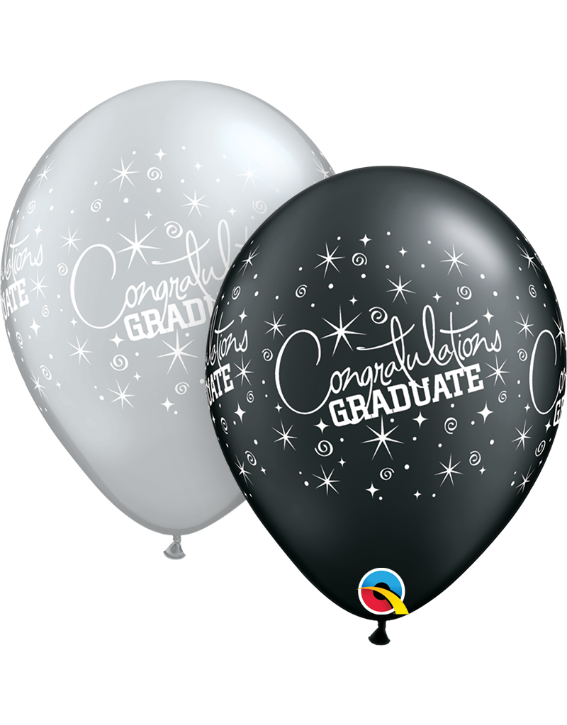 """11"""" Congratulations Graduate Balloon (Without Helium)"""