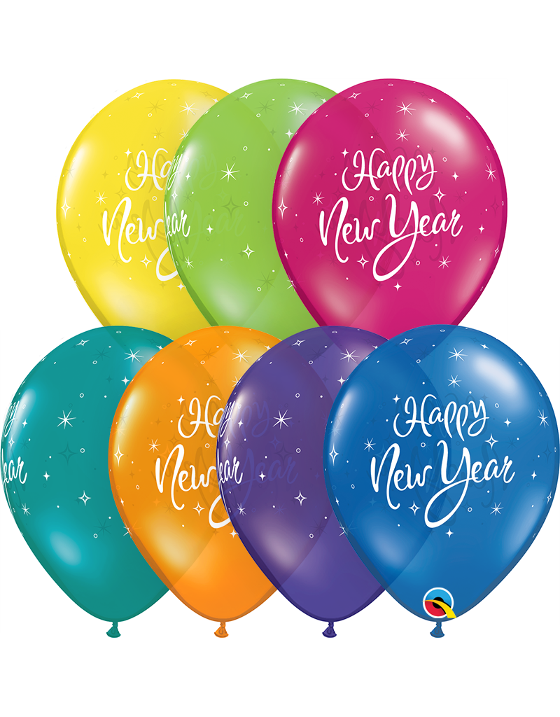 "11"" New Year Sparkle Jewel Tone Balloon (Without Helium)"