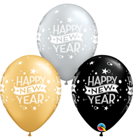 "11"" New Years Confetti Dots Balloon (Without Helium)"