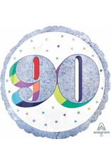 """Here's To Your 90th Birthday 18"""" Mylar Balloon"""