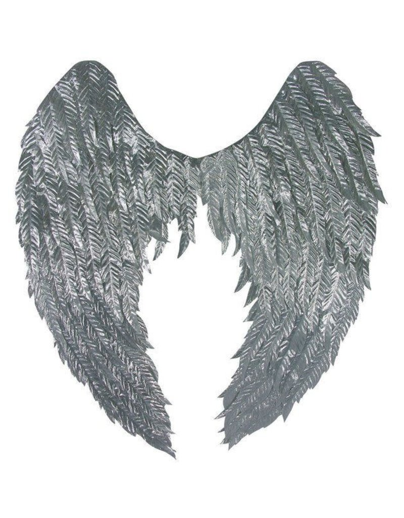 Bright Silver - Metallic Non-Feathered Wings - 23""