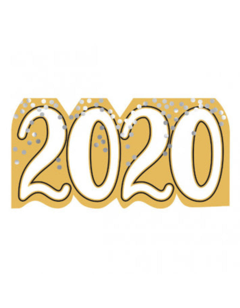 2020 Signable Cutout - Black, Silver, Gold