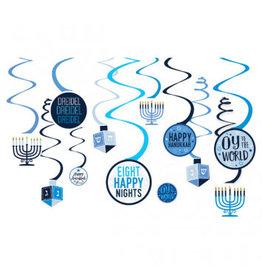 Hanukkah Spiral Decorations (12)