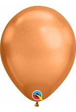 "11"" Chrome Copper Latex Balloon (Without Helium)"