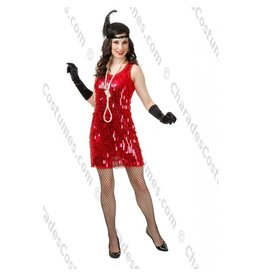 Plated Sequin Flapper Red