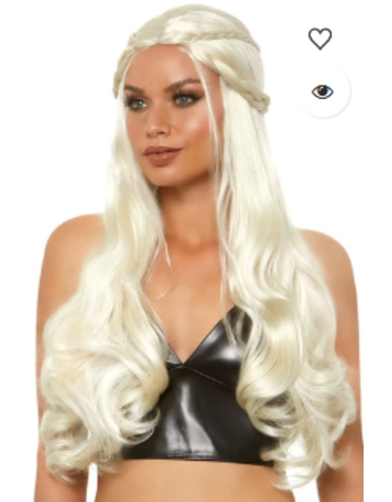 Blonde Braided Long Wavy Wig