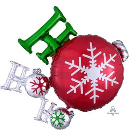 "Ho Ho Ho Ornament 35"" Mylar Balloon"
