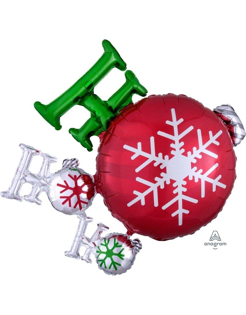 "Ho Ho Ho Ornament 35"" Mylar Balloon"
