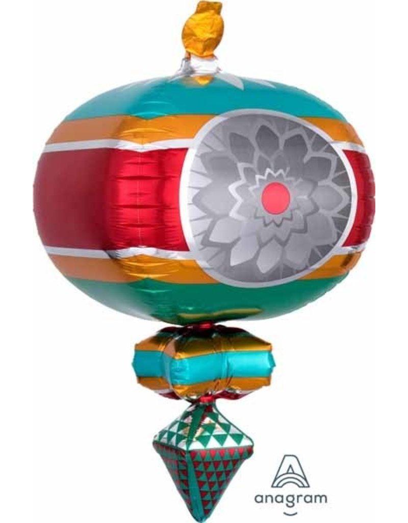 "Retro Ornament 33"" Mylar Balloon"