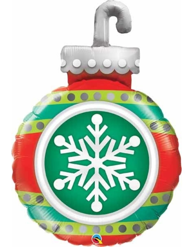 "Snowflake Ornament 35"" Mylar Balloon"