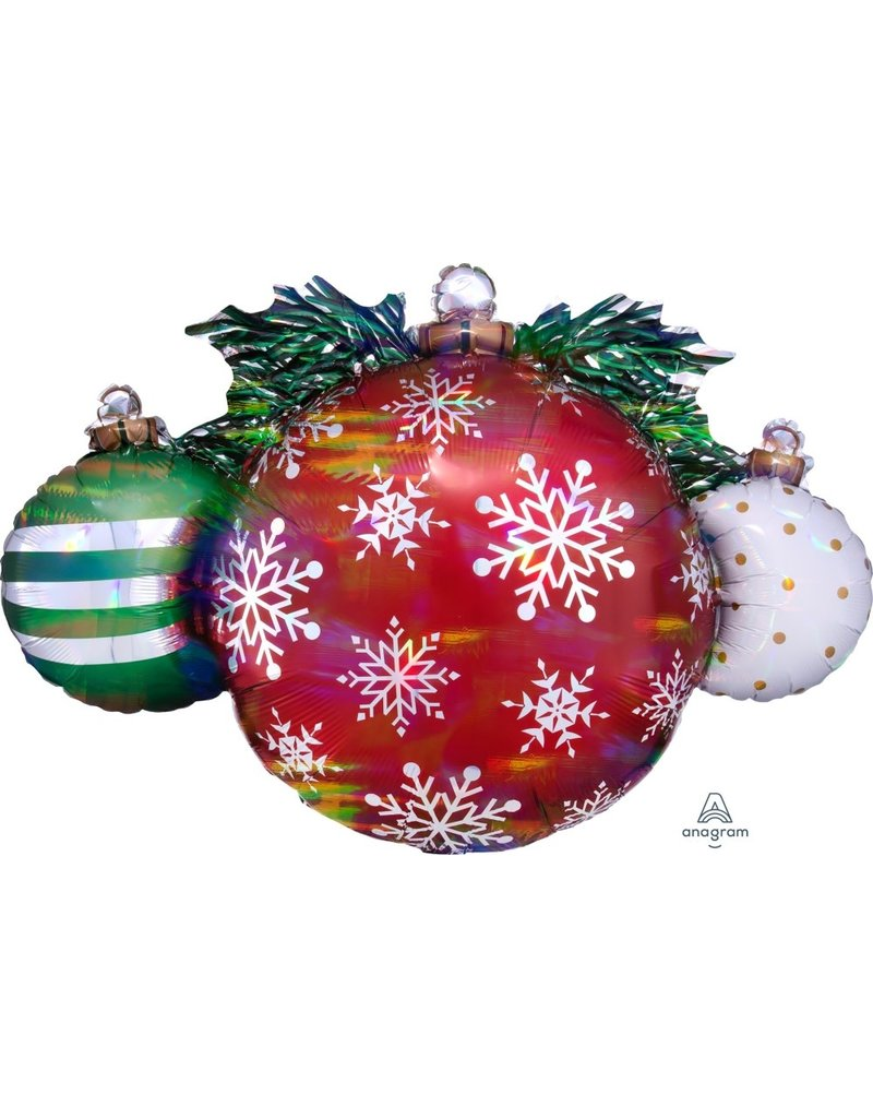 "Iridescent Ornaments 35"" Mylar Balloon"