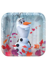 "©Disney Frozen 2 7"" Metallic Square Plate (8)"