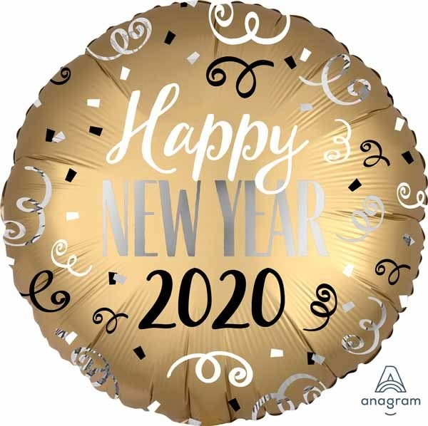 "2020 Gold Happy New Year 18"" Mylar Balloon"