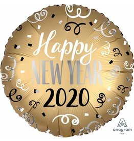 "2020 Gold Happy New Year 18"" Mylar Balloon"