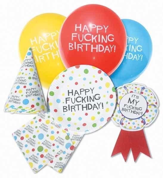 X-Rated Birthday Party Pack (Happy F**king Birthday)