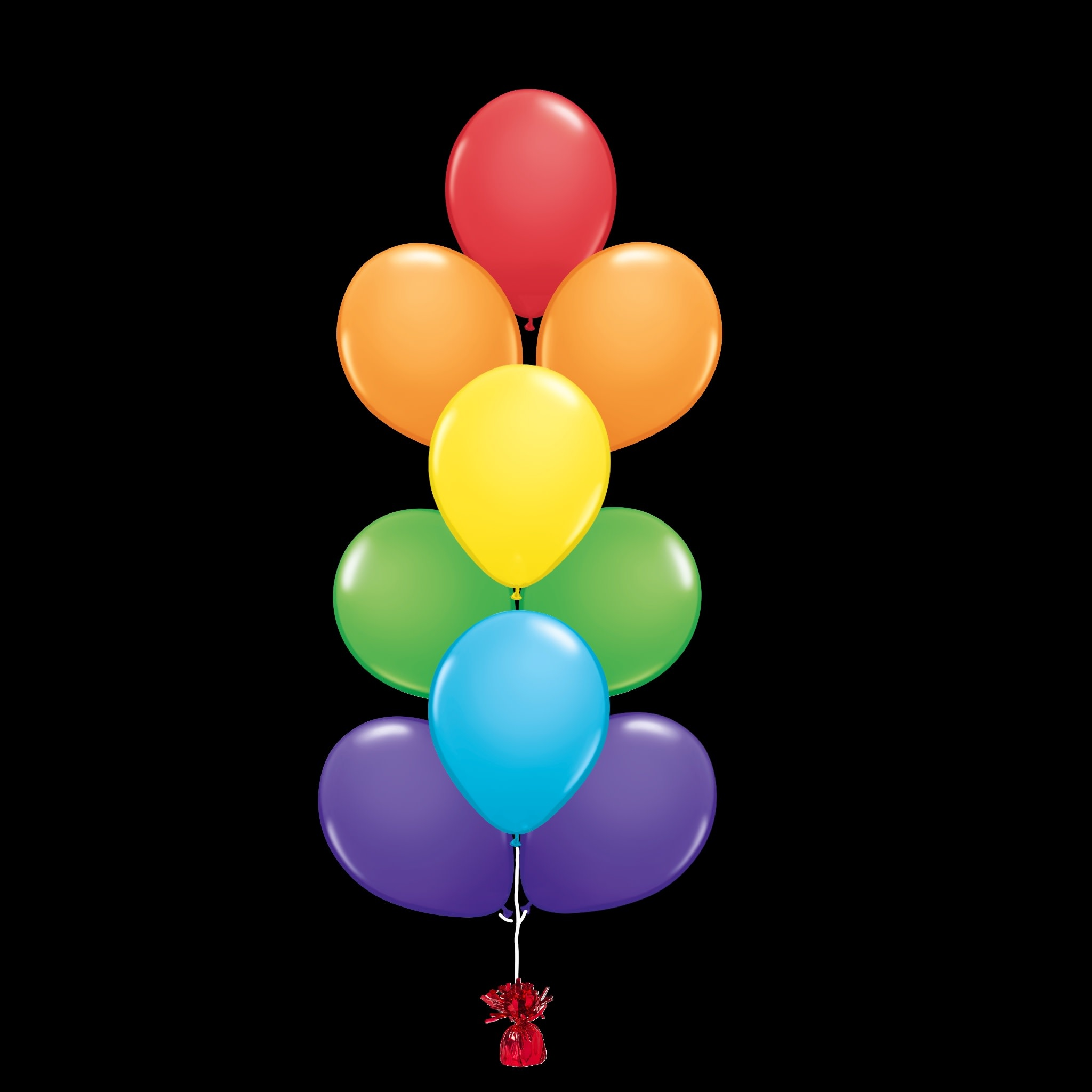 19 Balloons to a Weight Treated