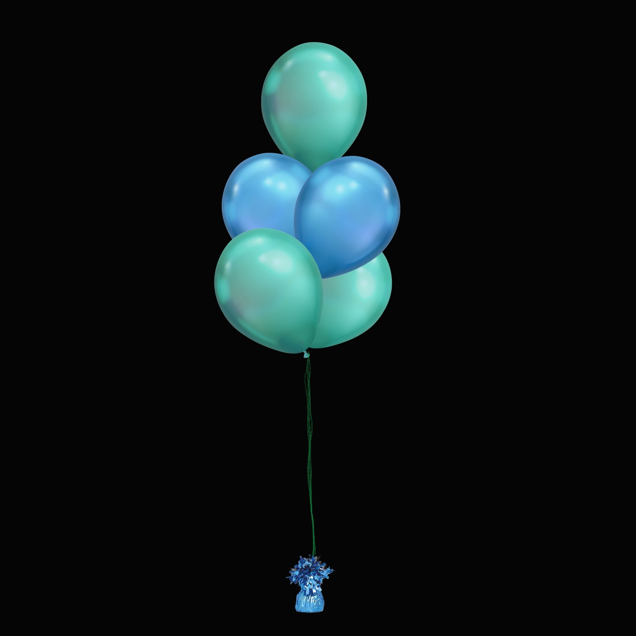 5 Balloons to a Weight Not-Treated