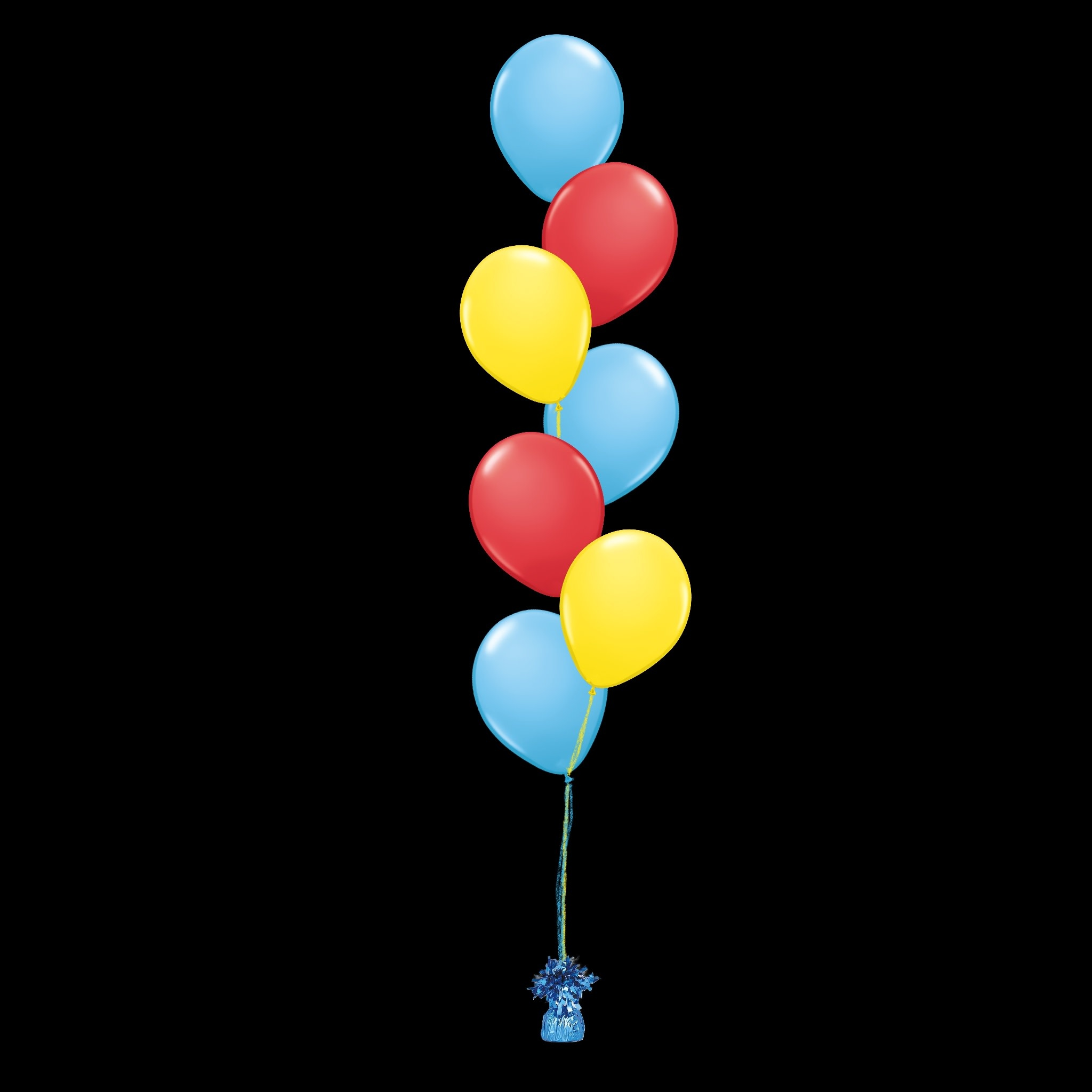 12 Balloons to a Weight Treated