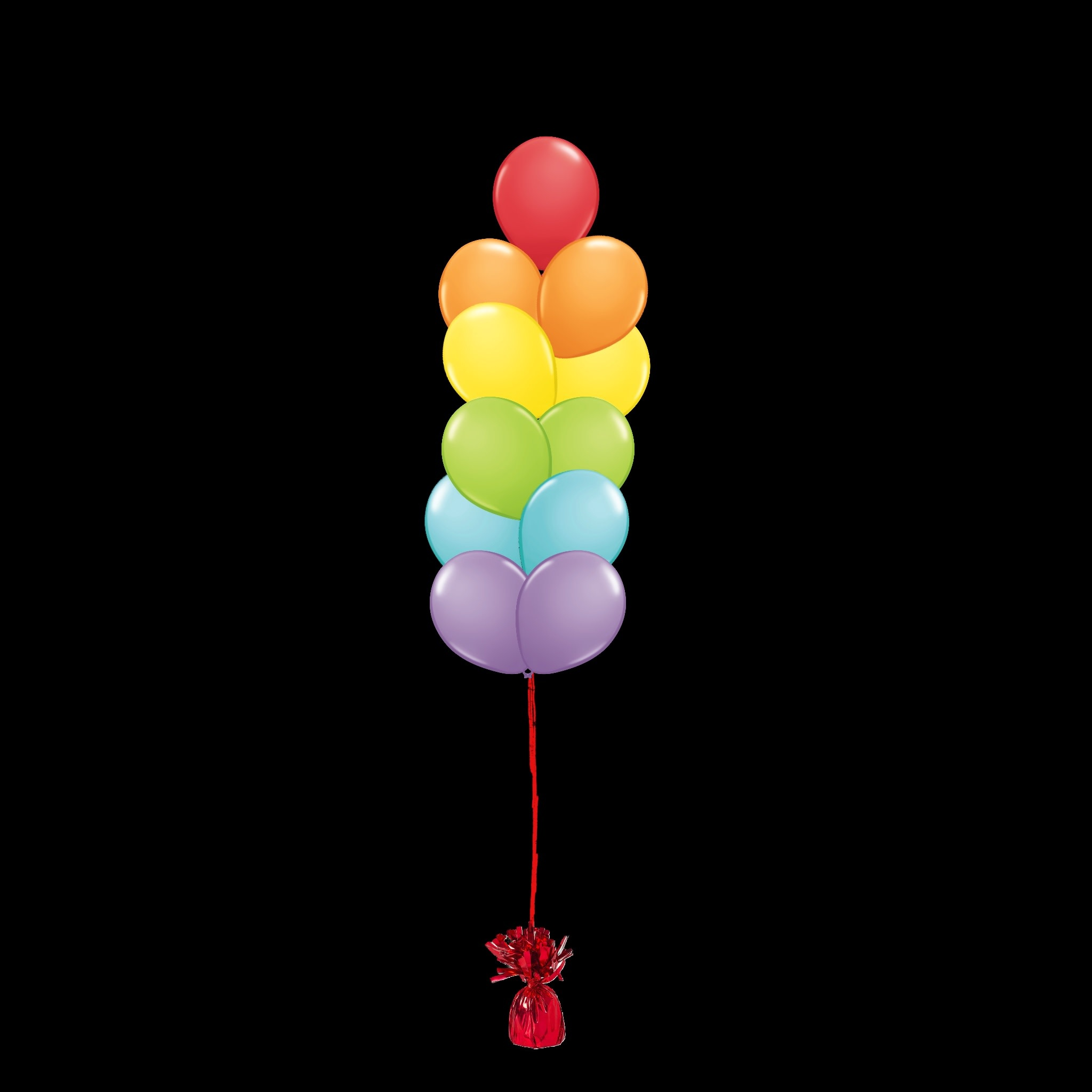 11 Balloons to a Weight Not-Treated